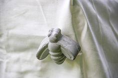 Concrete tablecloth clip.