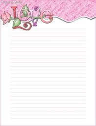 Printable Stationary Free Paper With Lines Backgrounds Love Stationery Template Templates For Word Printable Lined Paper, Free Printable Stationery, Free Printables, Printable Flower, Lined Writing Paper, Writing Papers, Paper Journal, Stationery Paper, Letterhead Paper