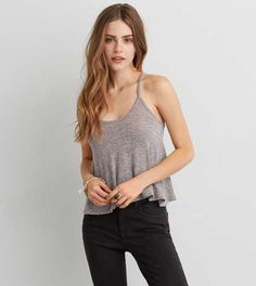 Designer Clothes, Shoes & Bags for Women V Neck Tank Top, V Neck Tops, Knitted Tank Top, Knit Tops, American Eagle Men, Mens Outfitters, Lounge Wear, American Eagle Outfitters, Camisole Top