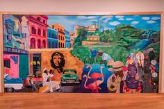 A mural on campus painted by MHS students. Cuba Art, Student Home, Residential Schools, Caribbean Art, School Building, Outdoor Events, Cuban, Vienna, Painting