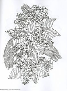 Creative Coloring Botanicals Adult Coloring Book by Valentina Harper – Kay's Crochet Patterns Mehr Coloring Pages For Grown Ups, Adult Coloring Book Pages, Free Coloring Pages, Colouring Pics, Coloring Sheets, Coloring Books, Mandala Coloring, Colorful Drawings, Christmas Colors