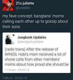 "J-Hope's MAMA caused all the other members' mothers to look at their sons like ""-.-"""