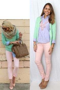 J's Everyday Fashion: Today's Everyday Fashion: Pastel