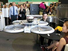 Flying waiter drone is able to serve food and drinks to customer's tables, in fully autonomous mode. Watch the video… Image © Channel News Asia Infinium-Serve… Drone Technology, Futuristic Technology, Robotics Books, Phantom Drone, Flying Drones, Drone For Sale, Tech Toys, Aircraft Design, Drone Quadcopter