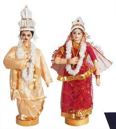 Bengali Bride and Bridegroom (Cloth)