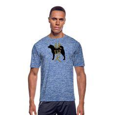 Maria Uusivirta Design   Akita inu and kanji - Men's Moisture Wicking Performance T-Shirt You can also customize your own shirt. #japaneseakita #risingsun #japanese #kanji #akitainulove #akitainusilhouette #dogsilhouette #silhouette #hachiko #loyaldog #loyal #mariauusivirta #mariauusivirtadesign Japanese Akita, Japanese Kanji, Customize Your Own Shirt, Hachiko, Dog Silhouette, Fade Color, Inu, Workout Gear, Mens Fitness