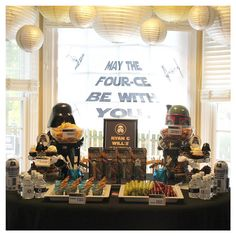 Twins Star Wars 4th Birthday Party Details by Mae Armstrong Designs https://www.etsy.com/shop/MaeArmstrongDesigns