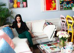Inredaren och bloggaren Anitha Schulman visar upp sitt eget vardagsrum.