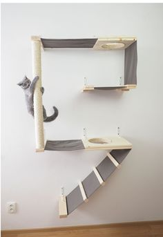 Cat climbing wall A puppy, or companion animal, is an animal kept primarily for a Cat Climbing Wall, Cat Climbing Shelves, Cat Gym, Cat Jungle Gym, Diy Cat Tree, Cat Playground, Playground Ideas, Cat Towers, Pet Furniture