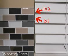 Decorating Cents: Tiling a Kitchen Back Splash