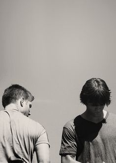 Sam and Dean #Supernatural I feel like this picture sums up their relationship as brothers so well.