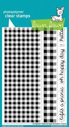 Lawn Fawn - Gingham Backdrops Stamps