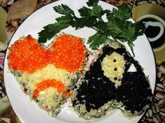 Salad — Two lovers heart Valentines Food, Lovers, Salad, Heart, Recipes, Salads, Recipies, Valentines Day Food, Hearts