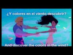 """▶ """"Colors of the Wind""""- Latin Spanish W/ Subs. and Trans. - YouTube"""