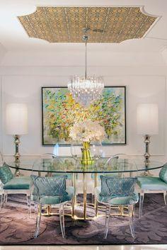 DKOR Interiors - Interior Design in Sunny Isles, FL Hollywood Regency - eclectic - dining room - miami - by DKOR Interiors Inc.- Interior Designers Miami, FL