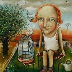 "BLATTON - ""CATCHER OF HAPPINESS""  #fineart #oilpainting #oilpaintingoncanvas #artist #artists #painter #painters #painting #paintings #oilpaintings #oiloncanvas #artwork #figurativeart #portrait #contemporaryart #modernart #dailypainting #Blatton #MonicaBlatton"