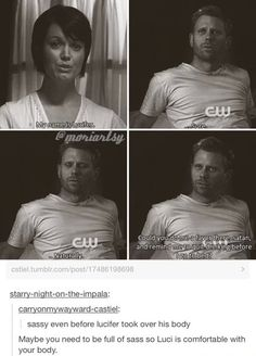Supernatural- Lucifer and his vessel are sass masters.