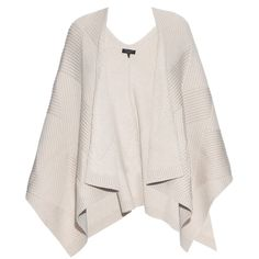 Rag & Bone Blithe merino-wool poncho ($450) ❤ liked on Polyvore featuring outerwear, sweaters, cream, pink poncho, rag & bone, merino wool poncho and cream poncho