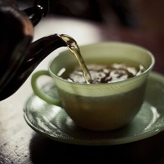 Jade tea cup and saucer