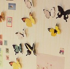 Diy Butterfly Wall Stickers Art Decal Paper Butterflies Home Decor Pi KW Butterfly Wall Decor, Butterfly Decorations, 3d Butterfly Wall Stickers, Cheap Wall Stickers, Wall Stickers Murals, Wall Stickers Home, Vinyl Decals, Pvc Vinyl, Vinyl Art