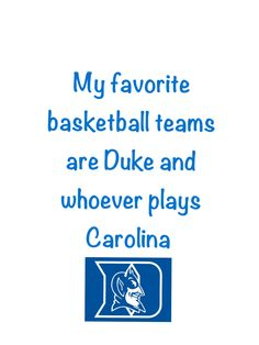 Soo true! Any Duke basketball fan/ Cameron Crazie can relate!!