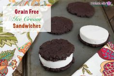 Grain Free Ice Cream Sandwiches (Paleo and Low Carb) - Holistically Engineered