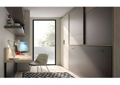 Dormitorio juvenil completo con mobiliario abatible