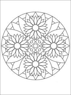 Easy coloring book pages mandala adult coloring books pages perfect geometric easy for home improvements catalog Mandala Art, Mandala Design, Mandalas Painting, Mandalas Drawing, Mandala Coloring Pages, Coloring Book Pages, Dot Painting, Printable Coloring Pages, Easy Mandala