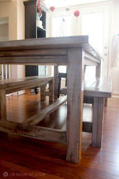 Ana White farmhouse table with good distressed stain tutorial