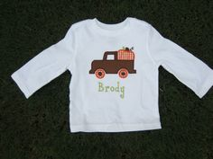 infant/toddler boys halloween shirts FREE PERSONALIZATION. $25.00, via Etsy.