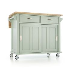 New diy kitchen island cart crate and barrel Ideas Kitchen Island On Casters, Portable Kitchen Island, Rolling Kitchen Island, Black Kitchen Island, Kitchen Island Bench, Kitchen Storage, Kitchen Islands, Kitchen Carts, Storage Cabinets