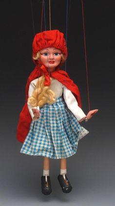 Bamfords : SL Red Riding Hood - Pelham Puppets SL Range, hollow : Online Auction Catalogue