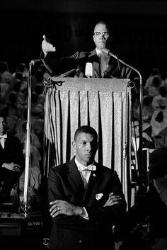 Eve Arnold USA. Washington D.C. Malcom X. 1961.