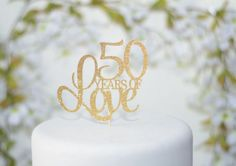 50th wedding anniversary cake topper  50th birthday cake
