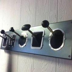 for the garage? Decorating idea for car lovers - stick shift cost rack. i wonder if i can make this.hmmm, to get crafty i shall. Car Part Furniture, Automotive Furniture, Furniture Ideas, Furniture Design, Bench Furniture, Modern Furniture, Man Cave Garage, Car Man Cave, Car Part Art