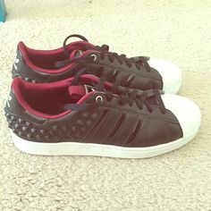 Adidas superstar Limited edition adidas superstar with spikes only worn once!! Adidas Shoes
