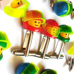 Lego Helmet Cufflinks