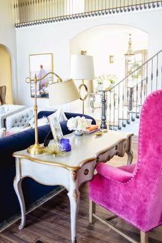 El salón perfecto en tonos azules.
