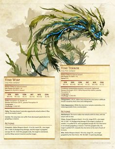 Sprouting Chaos Player's Companion's Monsters by BoltNine Homebrew
