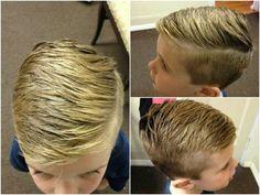 Boys Hipster fade haircut (hard part)