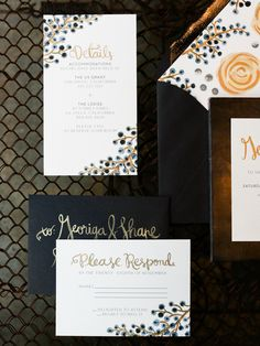 Wedding Invitations: Lovely Paper Things | More Wedding Inspiration on Style Me Pretty: http://www.StyleMePretty.com/2014/03/13/winter-industrial-inspiration-ginger-spice-sparkler-recipe/ Photography: Ashley Kelemen