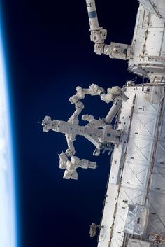 Dextre Robot at Work on the Space Station Credit: STS-124 Crew, Expedition 17 Crew, NASA