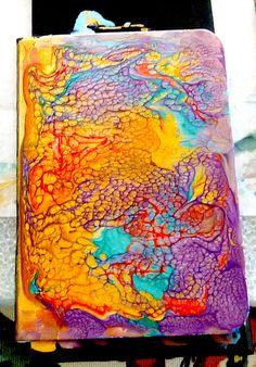 free tutorial using pebeo prisme paints as journal covers; at this blog ;  https://lindamd12.wordpress.com/