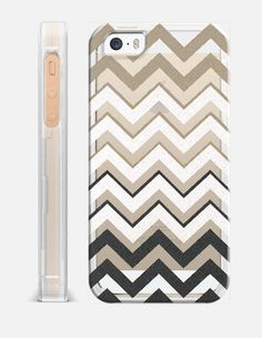 BLACK NUDE SILVER CHEVRON IV rev Crystal Clear iphone case Edit $39.95 Free shipping today  by Monika Strigel  #chevron #silver #black #nude #transparent #casetify #fading #ombre #crystal #clear