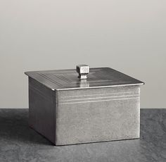 Pewter bath accessory box from restoration hardware more accessories