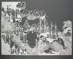 """Cumuliform,"" by Emma Van Leest. Archival paper, foam core and glue."