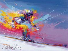 Malcom Farley  (American) like the bright splashed paint background