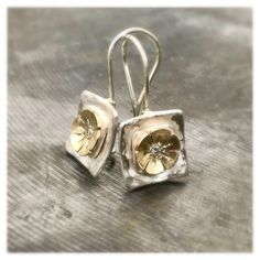 18K Yellow Gold Filled Hollow Flower Swirl Windwill Topaz Zircon Pendant Gift