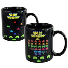 Imagine turning your cuppa into a gaming screen Imagine no more with this brilliantly retro heat-changing mug When empty the mug displays a blank