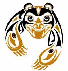 Tribal bear vector 26832 - by renreeser on VectorStock® Haida Kunst, Inuit Kunst, Arte Haida, Haida Art, Inuit Art, Haida Tattoo, 1 Tattoo, Native American Totem, Native American Symbols